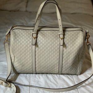 Gucci -Micro Guccissima Boston Bag ivory
